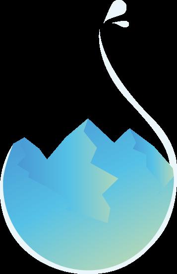 Element graphique, goutte d'eau montagne